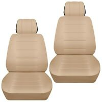 Front set car seat covers fits 2015-2019 Kia Carnival    solid sand