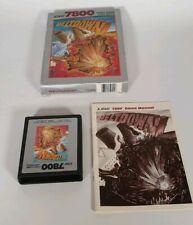 Meltdown  ATARI 7800 PAL GAME  BOXED Complete silver