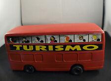 autobus BUS Turismo en plastique soufflé 22 cm ancien rare vintage plastic toy