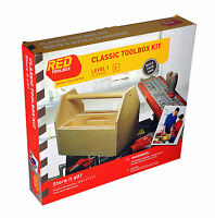 Red Toolbox Classic Make Your Own DIY Tool Box Kit for Level 1 Beginners