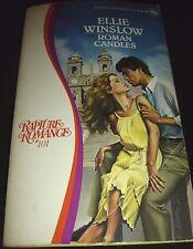 Roman Candles by Ellie Winslow 1st Print Feb 1985 Paperback Rapture Romance #101