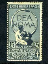 Italy, Scott #122, Glory of Rome, Mint Hinged, 1911