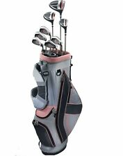 New Top-Flite XL Women's Golf Set Bag Headcovers Graphite 12 Piece Left Handed