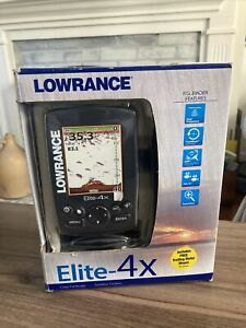 Lowrance Elite-4x Fishfinder with Transducer NEW (OPEN BOX)