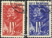 Albanië 621-622 gestempeld 1961 Alb. Partij van de Arbeid