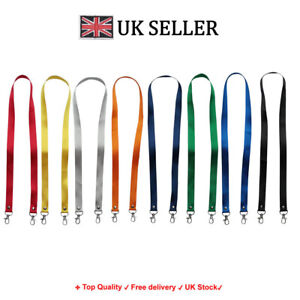 Printed or plain double clip Lanyard - Personalised, custom, neck strap, ID CARD