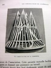 1928 ARCHITECTURE CONSTRUCTEURS CATHEDRALES GRAVURES BOOK LIVRE ORIENT EGYPTE FR