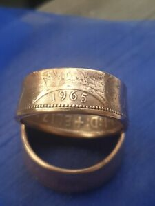 One Penny Coin Ring 1965 Size V
