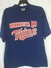 VTG Minnesota Twins MLB Baseball Blue T Shirt Tee M 38-40 Starter Top n4
