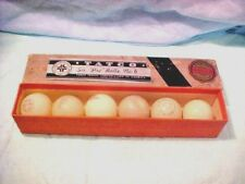 Tatco Table Tennis Box with 6 different manufacturer balls Vintage box and balls