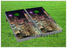 City Chicago Night Lights Cornhole Beanbag Toss Game w Bags Game Board Set 01413