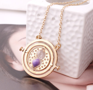 Hourglass Necklaces Harry Potter Pendants Time Converter Accessories Purple
