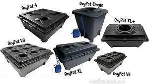 1 2 4 6 or 9 Pot IWS Deep Water Culture DWC OxyPot Bubbler Hydroponic System Kit