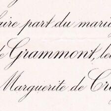 Antoine Gabriel Théodule de Grammont Paris 1893 Princesse De Croÿ et De Solre