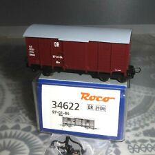 Roco 34622 H0e 4-ach.gedeckter Schmalspur Güterwagen GGw DR Epoche 3/4 neuwertig
