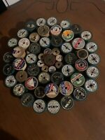 Vintage Sewing Thread 🧵 Wooden Spools Lot of 56 pcs Nastalgia Collectable Used