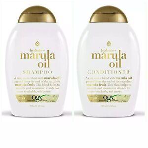 OGX 13oz Hydrate Marula Oil Exotic Blend Moisturizing Shampoo & Conditioner Set