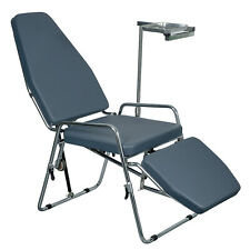 Portable Microfiber Leather Dental Folding Chair With Instrument Tray Cuspidor