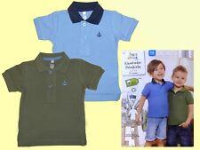 2 er Pack Kinder Poloshirts Polo T.-Shirt Polohemden oliv / blau  Gr. 74/80 NEU