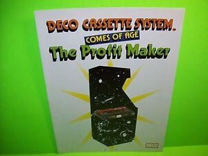 Data East DECO Cassette Original 1981 Video Arcade Sale Flyer Rare Japan Foldout