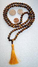 Tiger Eye Tigereye Handmade 108+1 Beads Nirvana Mala Jewelry Necklace -Energized