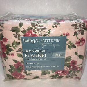 FULL FLANNEL SHEET SET LIVING QUARTERS Savannah Rose