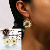 Boho Women Simple Geometric Circle Flower Earrings Drop Dangle Fashion Designs