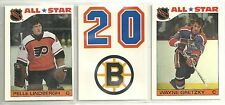 1985-86 Topps 33-card Hockey Sticker Inseet Set  Gretzky  Coffey  Bourque  +++