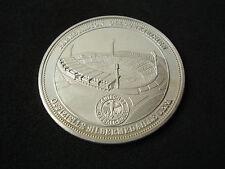 Germany, Gelsenkirchen Stadium, UEFA, 1987, proof silver medal, 20 g, football