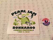 Pearl Jam Bonnaroo Button/Pin & Sticker - Manchester, TN 6-11-16