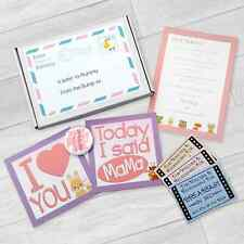 BABY SHOWER LETTER TO MUMMY FROM THE BUMP GAME MOTHERS DAY GIFT MILESTONE CARDS