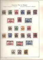 Deutsche Besetzung 1914/1918, verschiedene komplette Sätze, gestempelt o