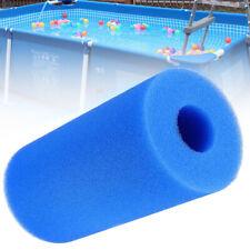 Bleu Réutilisable Cylindrique Piscine Aquarium Filtre Mousse Éponge D'Aquarium