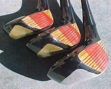 OVERSIZED Spalding Golf Clubs Lady set Woods Driver 3 5 w New Black Widow Grips