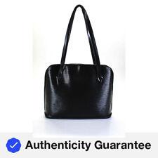 Louis Vuitton Epi кожа Люссак большая сумка с короткими ручками черный