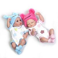 28cm Handmade Full Silicone Body Reborn Baby Doll Lifelike Girl Boy Baby Doll
