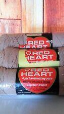 RED HEART VTG 4-ply handknit yarn, >Lot of 3, 3.5 oz each >100% Virgin Acrylic