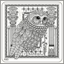 MoYou Nail Fashion Stamping Nail Art Image Plate 493 Egypt Style Owl