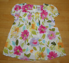 GYMBOREE FAIRY FASHIONABLE PINK FLOWER SWING TOP GIRLS 4 SUMMER