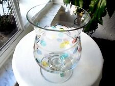 "PartyLite 8 1/2"" Tall Clear Swirl Bubbles Wide Vase"