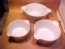 3 Pyrex Corning Casserole Dishes Bowls Forest Fancies Mushroom 473b 474b 475B
