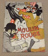 """Moulin Rouge"" José Ferrer Zsa Gabor Marchand Danish Vtg Original Movie Program"