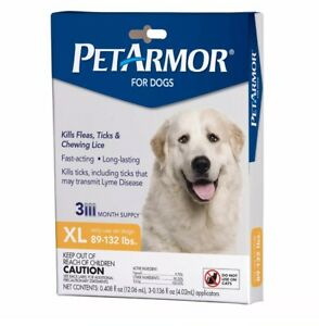 PetArmor for Dogs Flea & Tick Treatment for Extra Large Dogs - 3 Month Supply