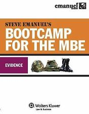 Mbe Bootcamp: Evidence: By Steven Emanuel
