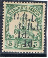 GERMANY BRITISCHE BESETZUNG MARSHALL INSLEN  MISPRINT MLH  SIGNED BBP