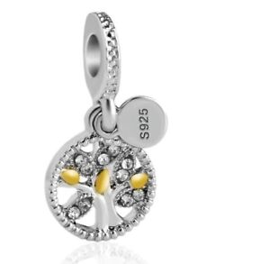 GENUINE S925 SILVER & GOLD FAMILY TREE ROOTS CHARM LIMITED QUANTITY  SALE !!