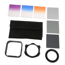 Color Filter Set Kit for DSLR Camera Lens Accessory Bundle 62mm with Adapter
