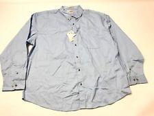 Featherlite Men's Button Down Shirt Size 2XL Blue Longsleeve Stain Resistant New