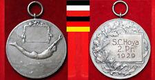 SCHWIMMEN MEDAILLE WEIMARER REPUBLIK DSV SCHWIMMFEST  II. PREIS * SC HOYA * 1929
