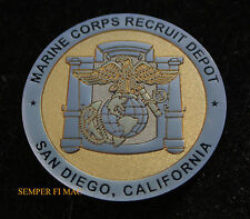 # US MARINES MCRD SAN DIEGO BOOT CAMP CHALLENGE COIN GRADUATION GIFT SON MOM DAD